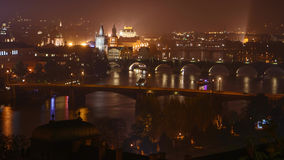 Evening rush hour on the river. Evening rush hour on the Vltava River in Prague stock video footage