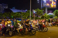 Evening rush hour in Vietnam. An extremely busy rush hour in downtown Ho Chi Minh City, Vietnam Royalty Free Stock Photo