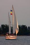 Evening sail. On intercoastal waterway near Pass-a-grill Florida royalty free stock image