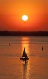 Evening sailing Stock Photos