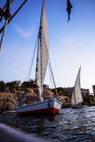 The evening sailing. The evening will harbor yacht Royalty Free Stock Photography