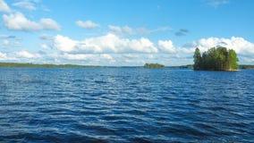 Evening at saimaa lake. In finland royalty free stock image