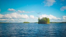 Evening at saimaa lake. In finland stock photos