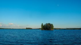 Evening at saimaa lake stock photo