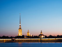 Evening Saint-Petersburg. White nights Royalty Free Stock Photos
