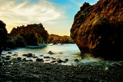 Evening. San Juan de la Rambla, Tenerife (Spain royalty free stock image