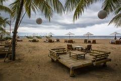 Evening Sanur Beach in Bali. Indonesia Stock Photos