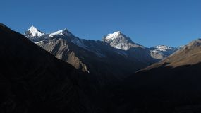 Evening scene in the Annapurna Conservation Area Stock Photo