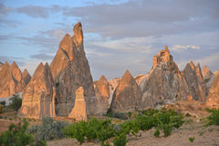 Evening scene in Cappadocia Royalty Free Stock Photography