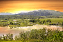 Evening scene in Montana Royalty Free Stock Photos