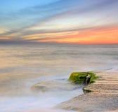 Evening scene on ocean Stock Photography