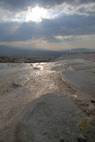 Evening scene in Pamukkale Royalty Free Stock Images