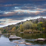 Evening scene on river Royalty Free Stock Image