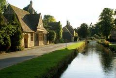 Evening scene of River Avon running in Malmesbury, England Stock Photography