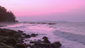 Evening scene of the sea stock video footage