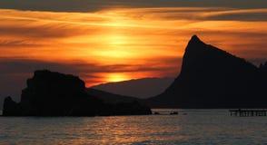 Evening scene on sea Stock Photo