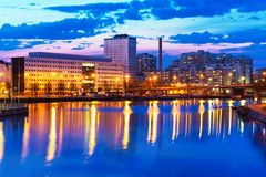 Evening scenery of Helsinki, Finland Stock Images