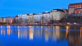 Evening scenery of Helsinki, Finland stock video
