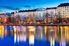 Evening scenery of Helsinki, Finland Stock Photo