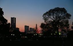 Evening scenery in Japan Yokohama Stock Photography