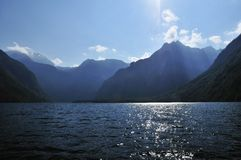 Evening Scenery at Konigssee Stock Photos