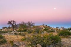 Evening scenery at Kubu Island Royalty Free Stock Images