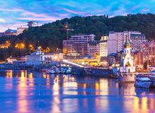 Evening scenery of Kyiv, Ukraine Stock Image