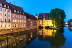 Evening scenery of Nuremberg, Germany Stock Photo