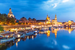 Evening scenery of the Old Town in Dresden, Germany Stock Images