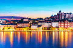 Evening scenery of the Old Town in Stockholm, Sweden Royalty Free Stock Photography
