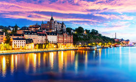 Evening scenery of the Old Town in Stockholm, Sweden Stock Images