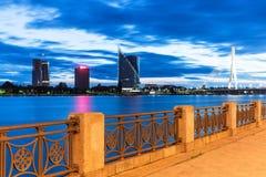 Evening scenery of Riga, Latvia Stock Photo