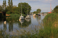 Evening scenery at river frome, wareham Stock Images