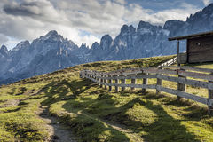 Evening scenery South Tirol Stock Photos