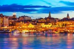Evening scenery of Stockholm, Sweden Stock Photos