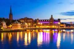 Evening scenery of Stockholm, Sweden Stock Photo