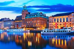 Evening scenery of Stockholm, Sweden Royalty Free Stock Photo