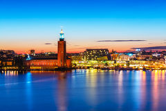 Evening scenery of Stockholm, Sweden Royalty Free Stock Image