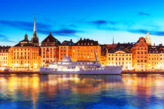Evening scenery of Stockholm, Sweden Stock Image