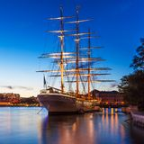 Evening scenery of Stockholm, Sweden Royalty Free Stock Photos