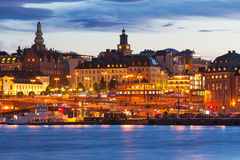 Evening scenery of Stockhom, Sweden Stock Image