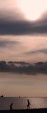 Evening Sea & clouds Stock Image