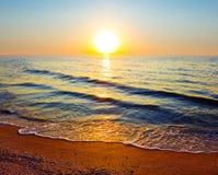Evening sea coast Stock Photo