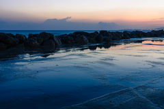 Evening at Sea. Royalty Free Stock Images