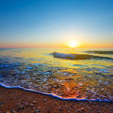 Evening sea coast Stock Image