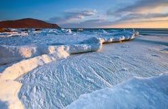 Evening sea ice. Stock Photography