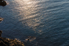 Evening Sea Rocky Coast View. Royalty Free Stock Photo