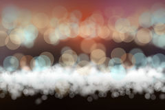 Evening sea shining blurs bokeh background Stock Image