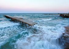 Evening sea storm (Black Sea, Bulgaria). Stock Image