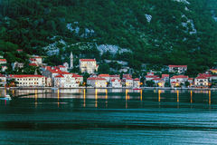Evening in sea town Royalty Free Stock Photography